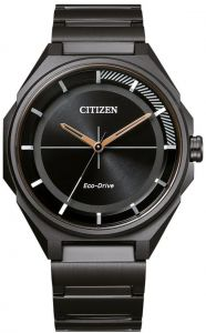 Citizen Eco-Drive Black IP Elegant 100m Men's Watch