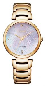 Citizen Eco-Drive L Mother of Pearl 50m Sapphire Elegant Ladies Watch