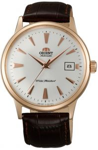 Orient FAC00002W0 AC00002W  2nd Generation Bambino Dome Crystal Automatic Rose Gold Elegant Watch