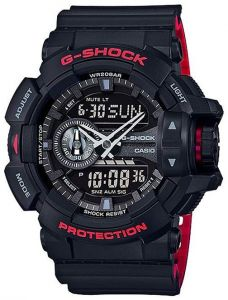 Casio G-Shock Special Color Black & Red 200m Watch