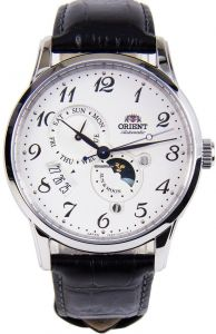 Orient Mechanical Automatic Sun And Moon Sapphire Watch
